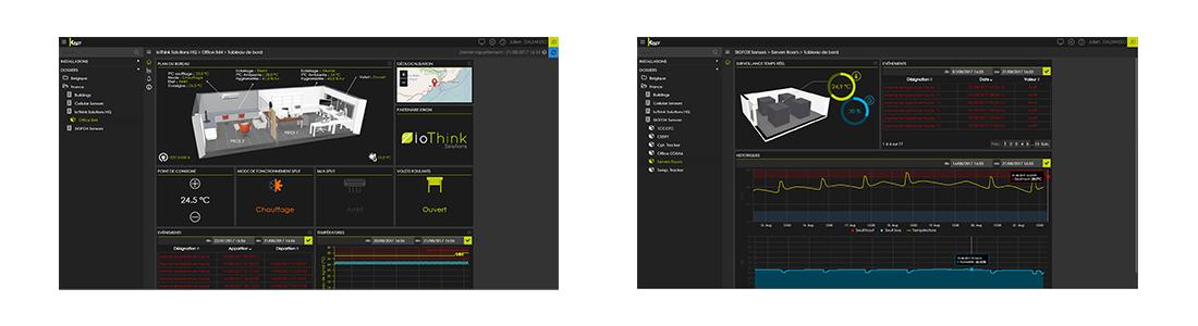 Screenshots Kheiron Service Platform