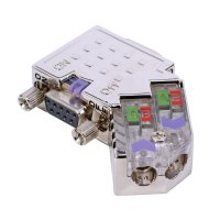 VIPA EasyConn PROFIBUS Plug with diagnose LEDs - 45°